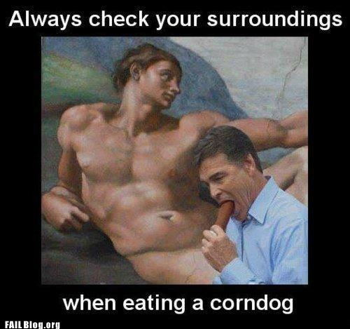 Eating a Corndog FAIL