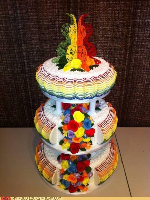 cake,frosting,poop,rainbow,roses