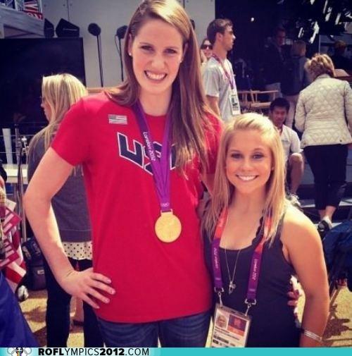 gymnastics,height,London 2012,olympics,size,swimming