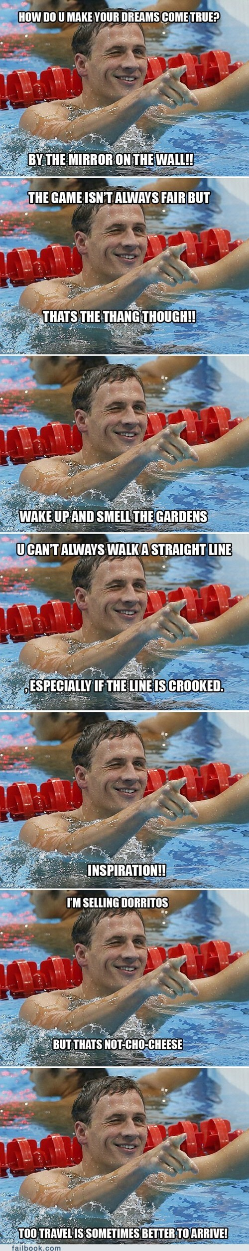 Failbook: Ryan Lochte's Deeply Profound Tweeting