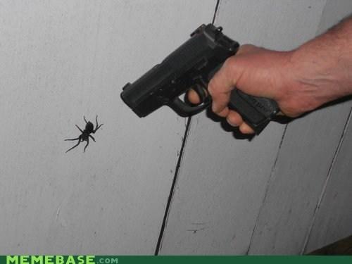 gun,jump,spider