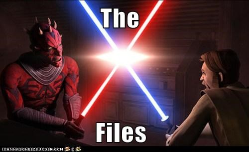 darth maul,lightsaber,obi-wan kenobi,star wars,the clone wars,the x-files