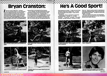 "Bryan Cranston in ""Teen Talk"" Magazine, Circa 1985"