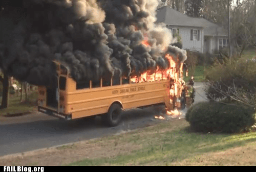 The Wheels on the Bus Go Up in Flames FAIL