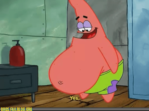 cartoons,fat,patrick,patrick star,screencap,SpongeBob SquarePants,television,TV