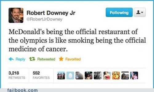 fat,McDonald's,olympics,tweet,twitter