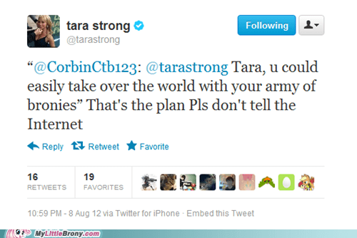 Bronies,tara strong,the internet,the internets,twitter