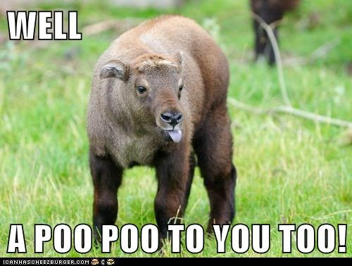 WELL  A POO POO TO YOU TOO!