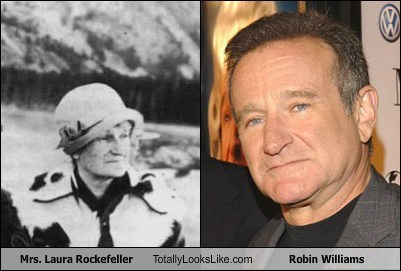 Mrs. Laura Rockefeller Totally Looks Like Robin Williams