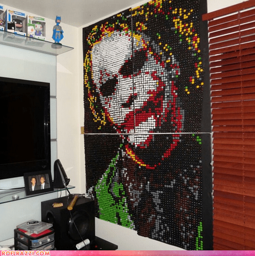 Heath Ledger's Joker Made Entirely of Skittles