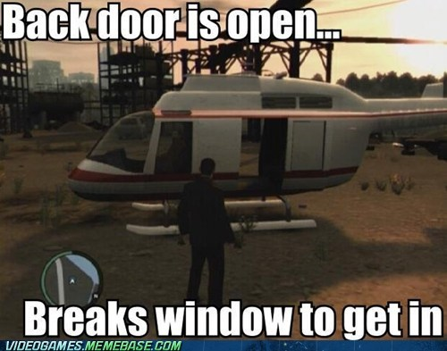 Stealing a Helicopter GTA IV