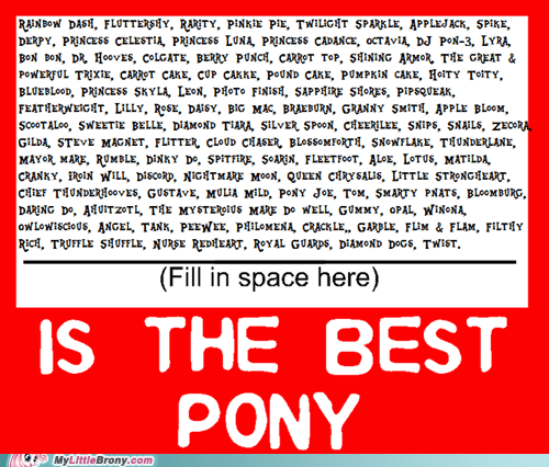 Who is Best Pony?