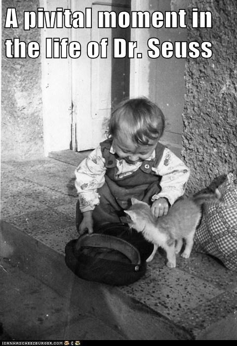 baby,cat,dr seuss,hat,kid