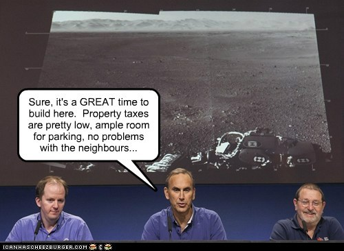 Real Estate on the Red Planet