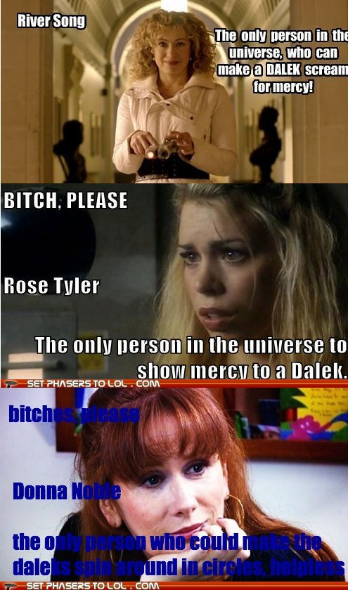 alex kingston,btch-please,billie piper,Catherine Tate,dalek,donna noble,mercy,River Song,rose tyler,universe