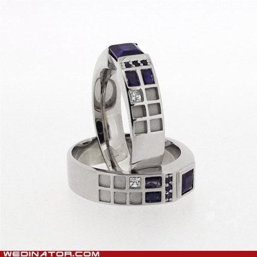 doctor who,engagement ring,funny wedding photos,geek,rings,tardis,wedding ring