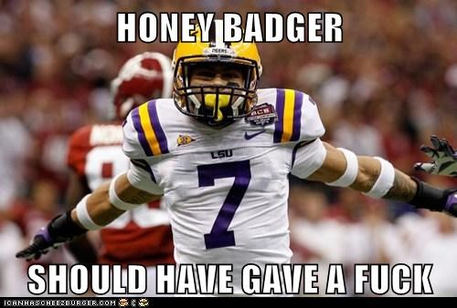 HONEY BADGER  SHOULD HAVE GAVE A FUCK