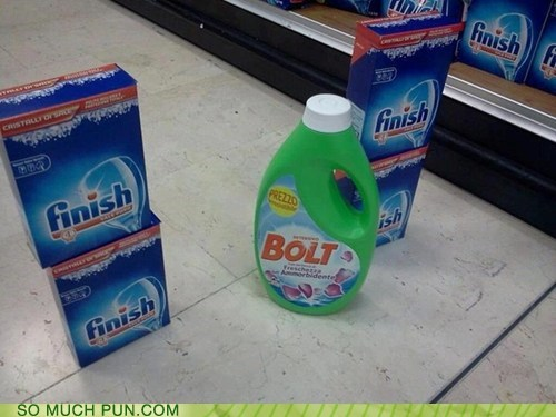 A Stunning Photo of Bolt Crossing the Finish Line