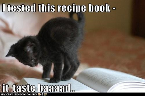 I tested this recipe book -  it  taste baaaad..