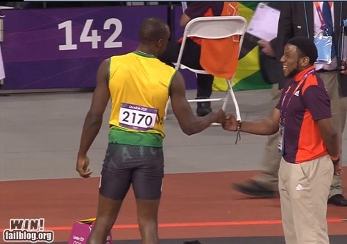Fist Bumping the Bolt WIN