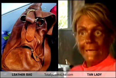 Leather Bag Totally Looks Like Tan Lady (Patricia Krentcil)