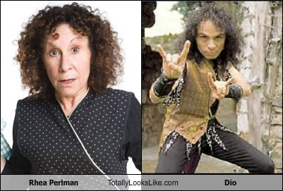 Rhea Perlman Totally Looks Like Ronnie James Dio