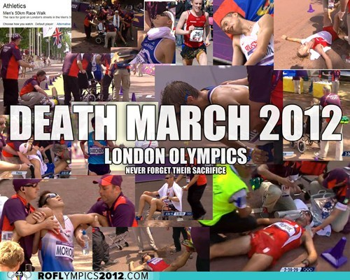 death march,London 2012,marathon,olympics,racewalking