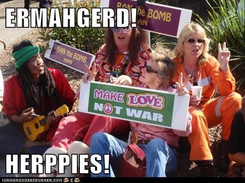 ERMAHGERD!  HERPPIES!