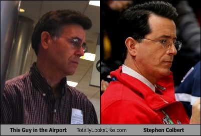 This Guy in the Airport Totally Looks Like Stephen Colbert