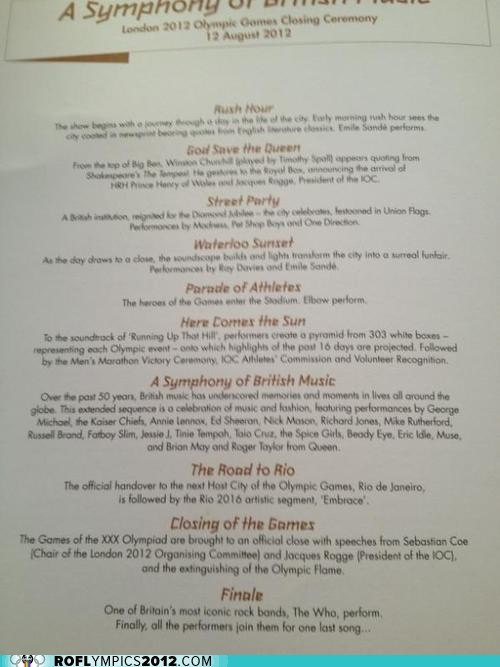 Full Closing Ceremonies Program