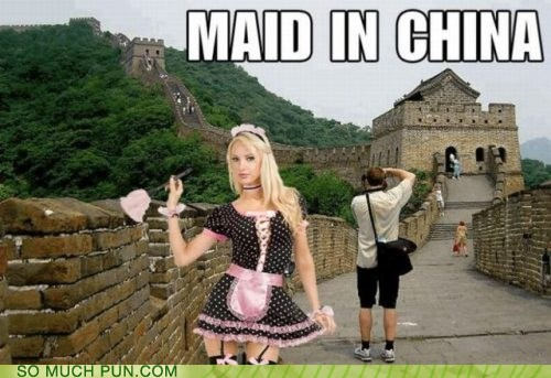 China,double meaning,homophone,literalism,made,maid