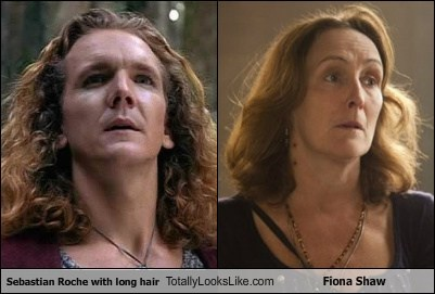 Sebastian Roche With Long Hair Totally Looks Like Fiona Shaw