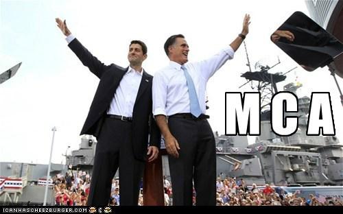 dance,Mitt Romney,paul ryan,song,village people,waving,ymca