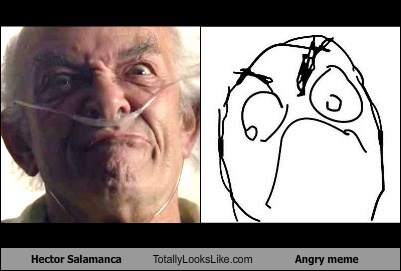 Mark Margolis (Hector Salamanca, Breaking Bad) Totally Looks Like Angry Meme