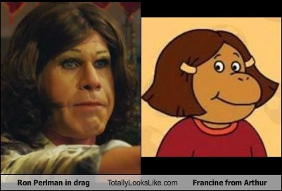 Ron Perlman in Drag Totally Looks Like Francine from Arthur