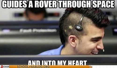 into my heart,mars rover,mohawk nasa guy,nasa,space