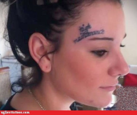 forehead tattoos,high maintenance