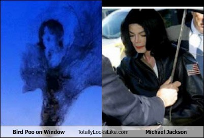 Bird Poo on Window Totally Looks Like Michael Jackson