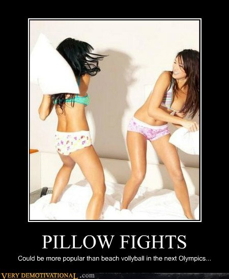 hilarious,olympics,pillow fight,Sexy Ladies,volleyball
