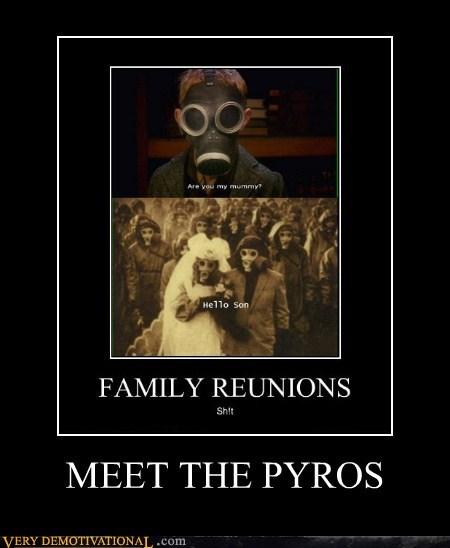 family reunion,hilarious,pyros