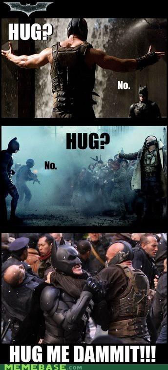 bane,hugs,love,superheroes,Super-Lols