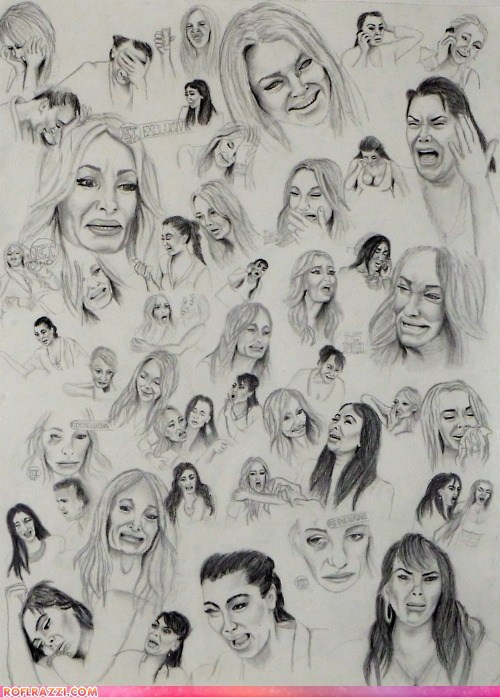 art,farrah abraham,funny,kim kardashian,lindsay lohan,taylor armstrong