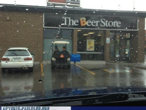 beer runs,beer store,golf cart,serious business,srs bsns