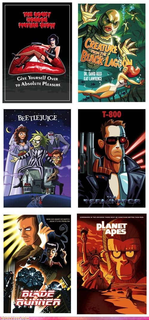 Cartoon Style Movie Posters