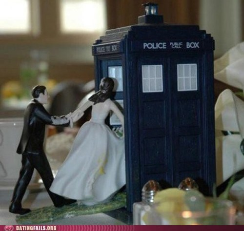 dating fails,doctor who,g rated,nerds in love,tardis,wedding cake