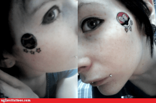 face tattoos,Pokeballs,Pokémon