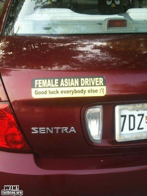 accident,asian driver,driver,license plate,whoops