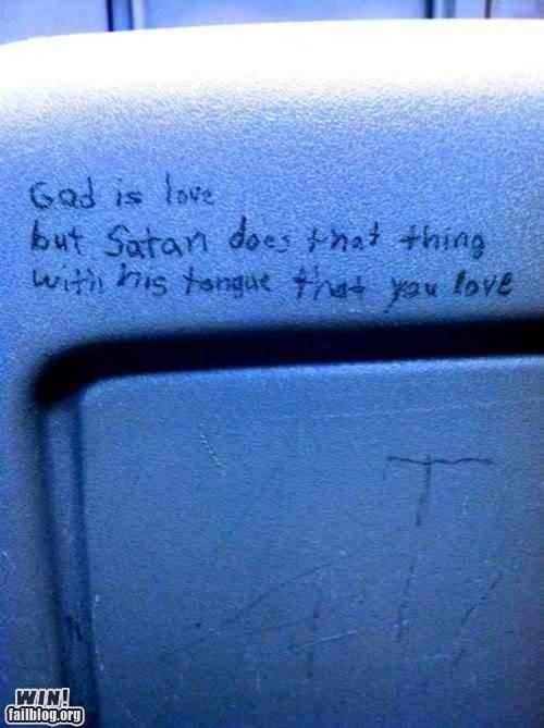 bathroom,Bathroom Graffiti,dating,graffiti,religion,rowr,sexy times