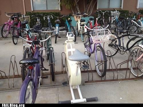 bike rack,bikes,exercise bike