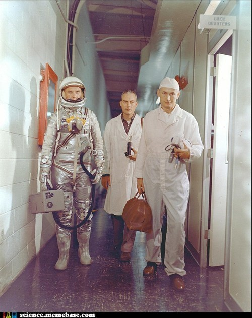 John Glenn Suited Up
